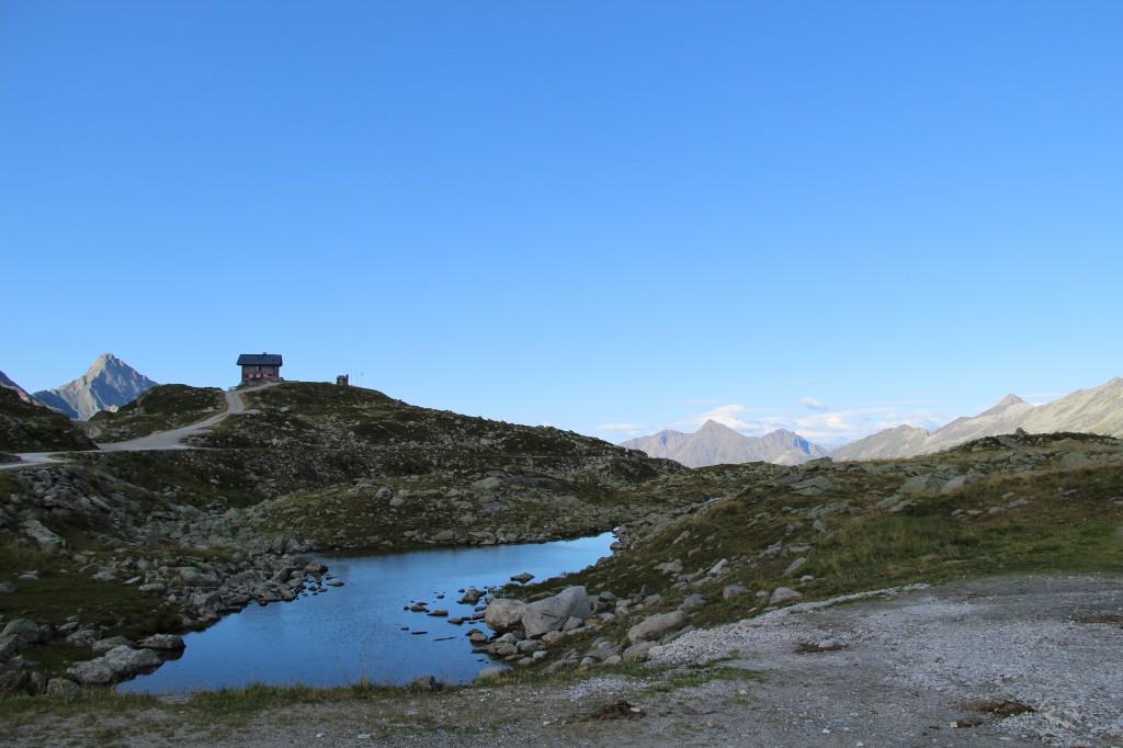 Das Pfitscher Joch Haus an der Grenze Österreich - Italien